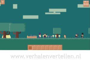 screenshot verhaal voor een game