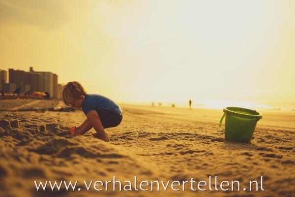 verhaal over de zee zandkasteel
